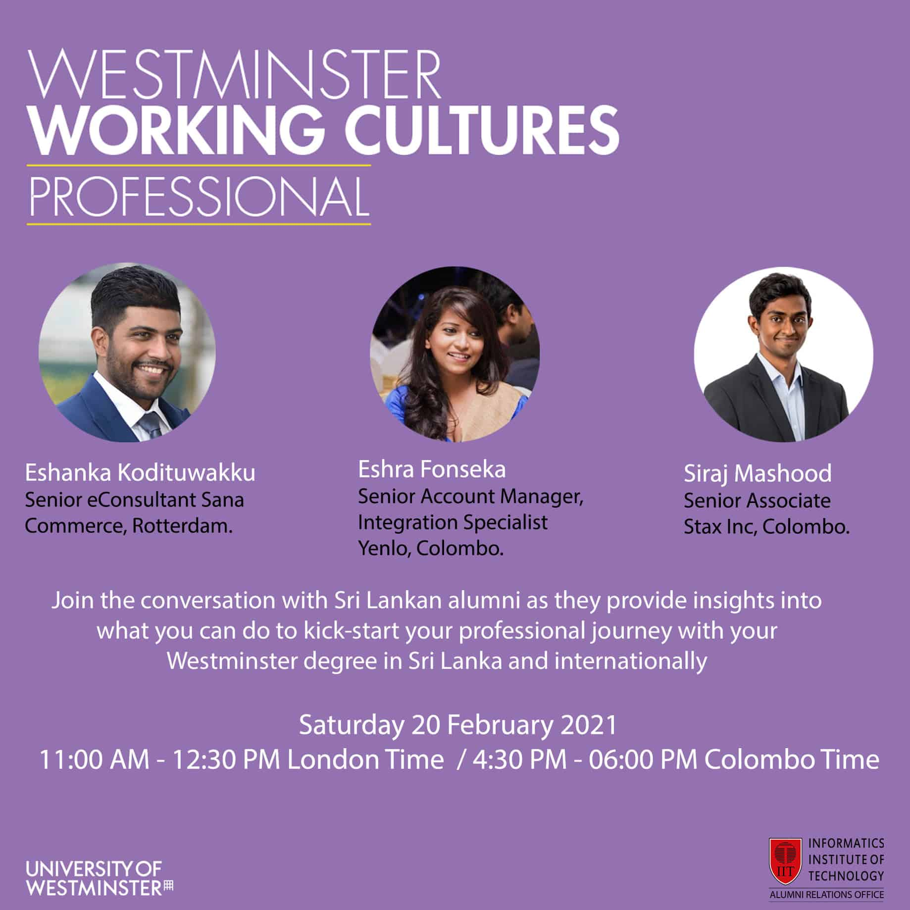 Westminster Working Culture Professionals - Sri Lanka