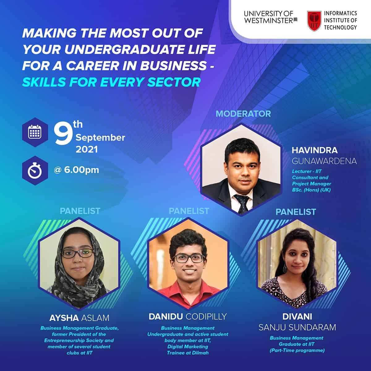 Making the most out of your undergraduate life for a career in Business - Skills for every sector